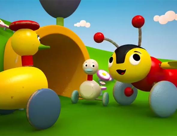 Дистрибьюторская компания «Студия Ю7» выпустила на телевизионный рынок России и ближнего зарубежья новую программу Пчелëнок Баззи и его друзья / BUZZY BEE & FRIENDS