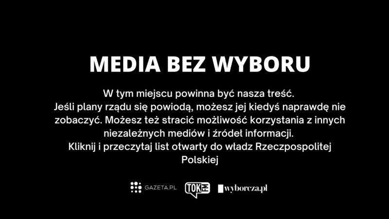 Польские медиа объявили забастовку из-за налога нарекламу вСМИ
