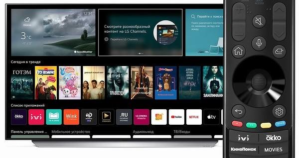 LG выпустила смарт-ТВ с ОС специально для России