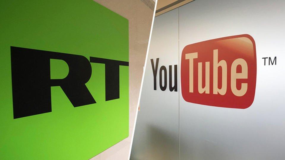Роскомнадзор иМИД России пригрозили YouTube штрафом после блокировки каналов RT
