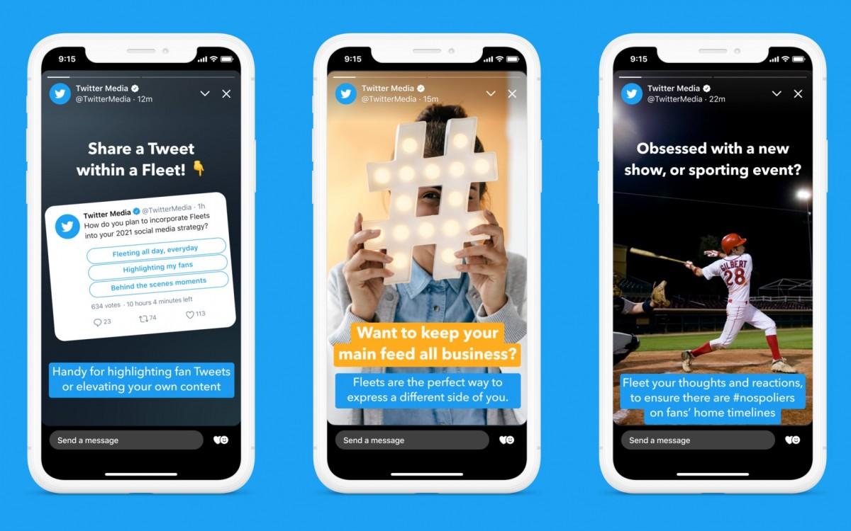 Twitter закроет раздел Fleets меньше, чем через год после запуска